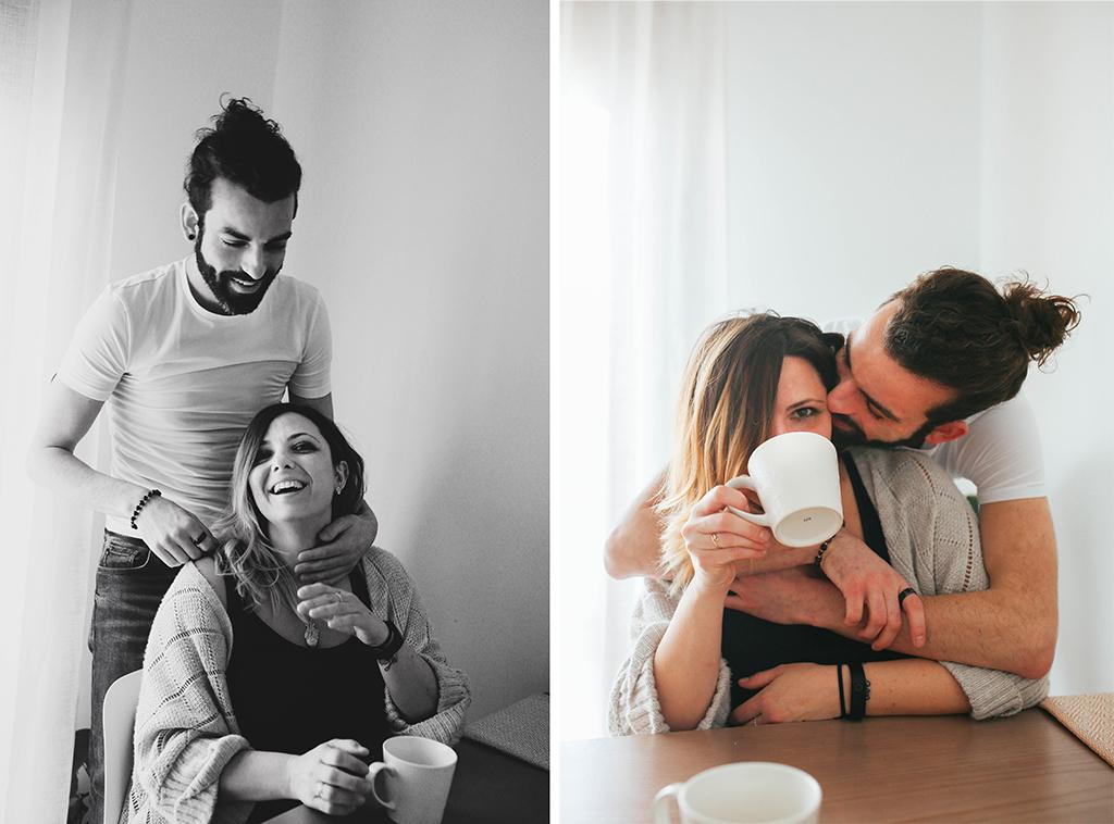 foto di coppia in casa Laura e Simone Conegliano amore fotografa di emozioni fotografa del quotidiano Treviso Venezia Pordenone